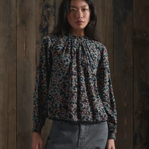Blouse à col haut face Superdry